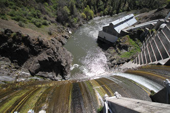 Copco No. 1 Dam on the Klamath River